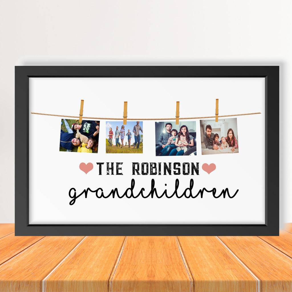 Grandchildren Picture Frame with Customized Name & Year