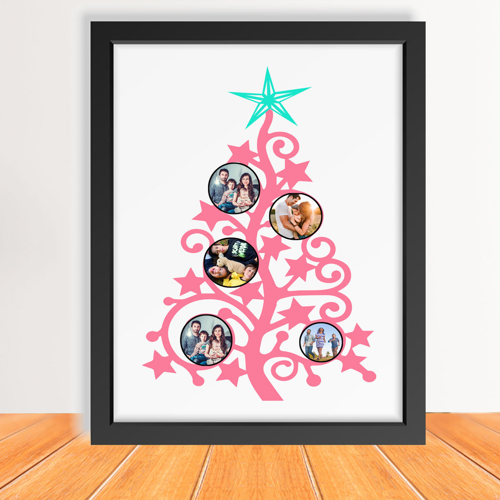 Christmas Tree printed Family Picture Frame