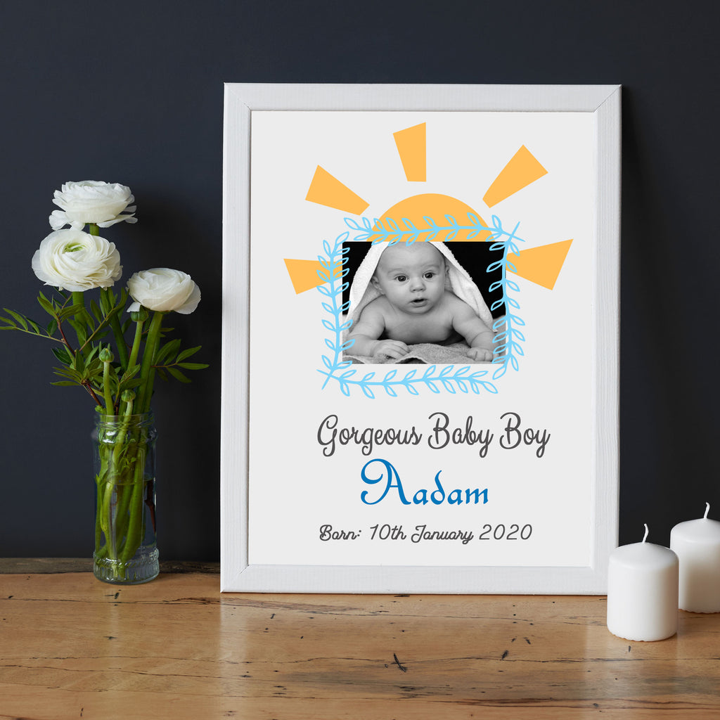 Baby Boy Personalized Name Picture Frame