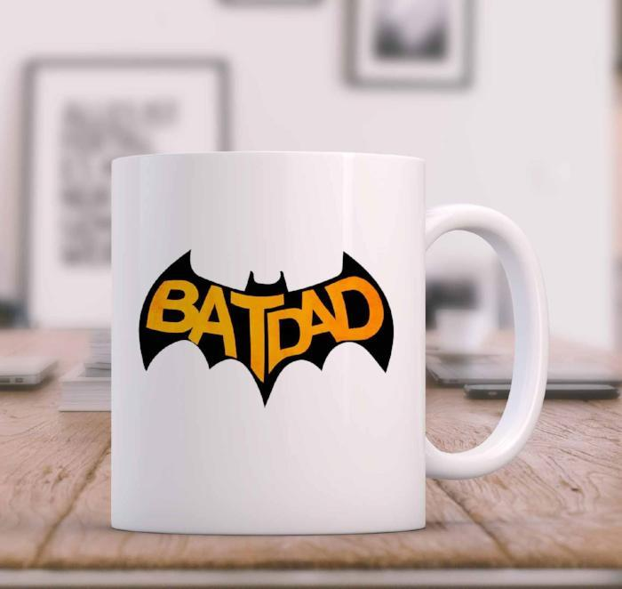 """BAT DAD"" Bat Printed Funny mug for Dad"
