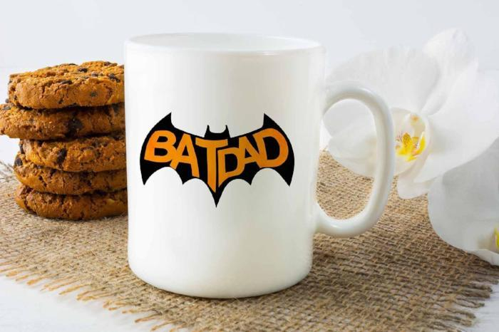 "Fathers Day Gifts for Dad ""BATDAD"" Funny Printed Coffee Mug Gift"