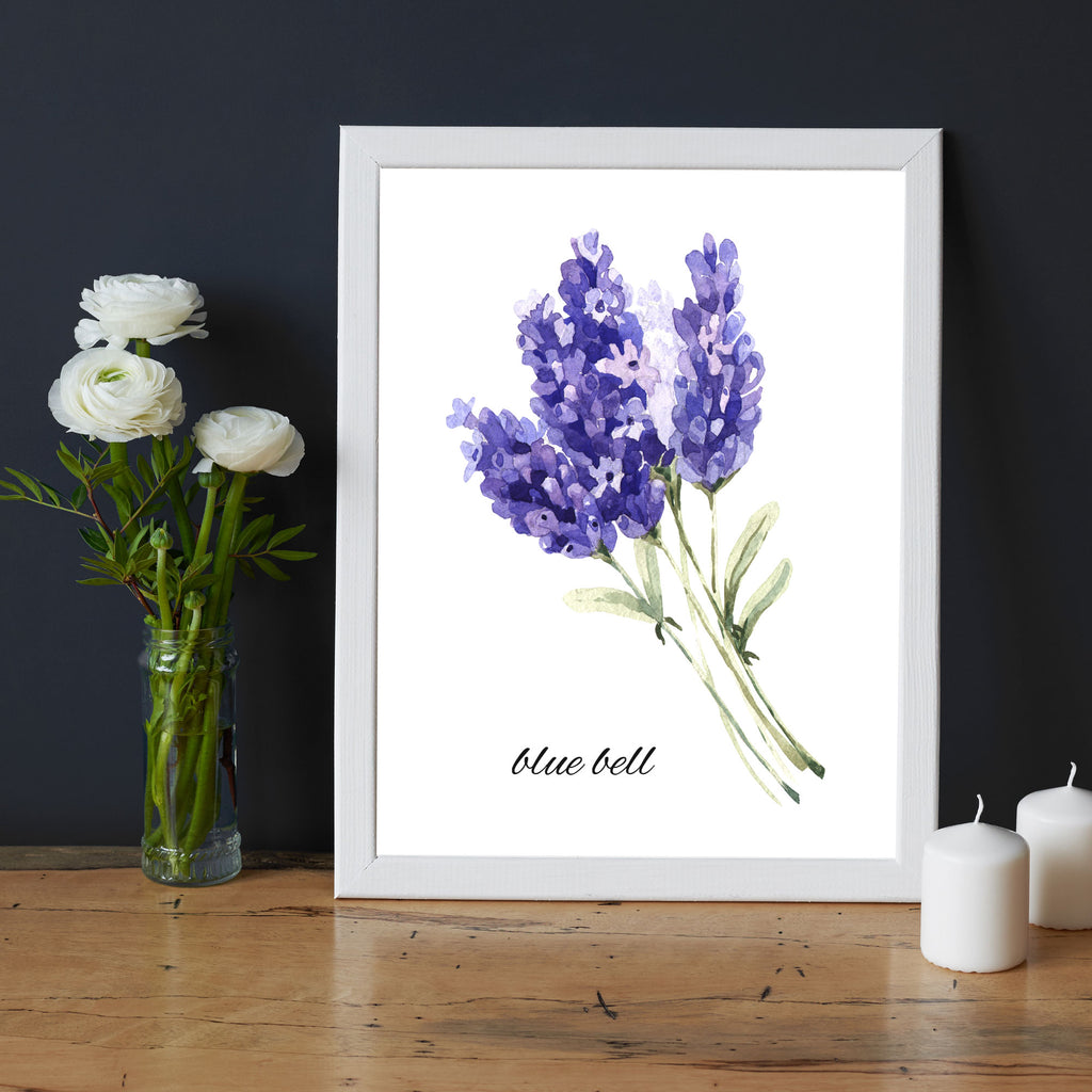 Blue Bell Flower Printed picture frame