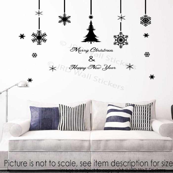 25 Set Merry Christmas Tree Wall Sticker