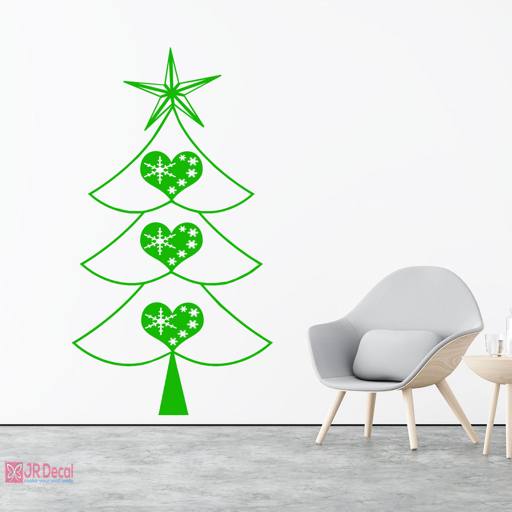 Christmas Tree Heart Shape Wall stickers