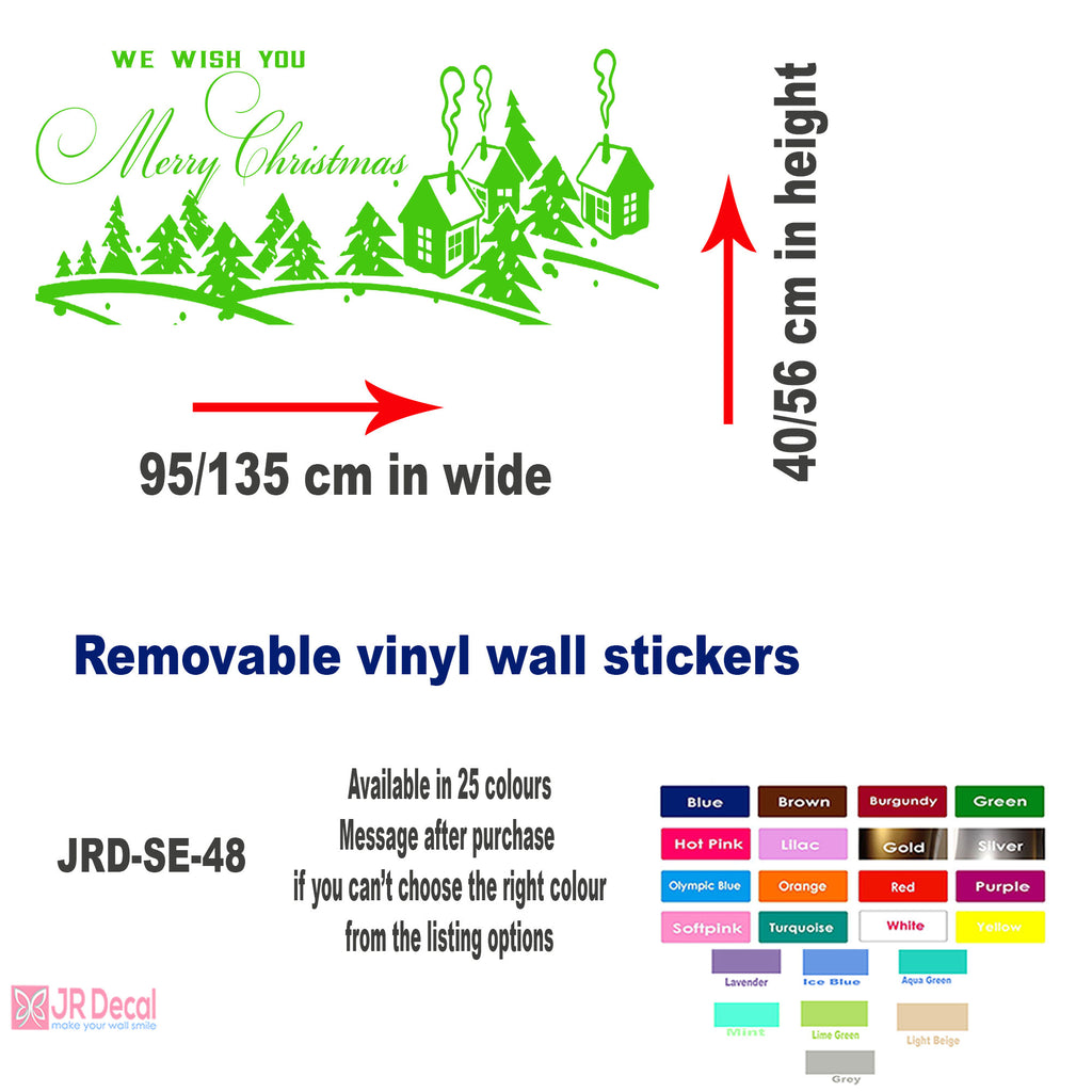 Winter Village Wall Stickers UK