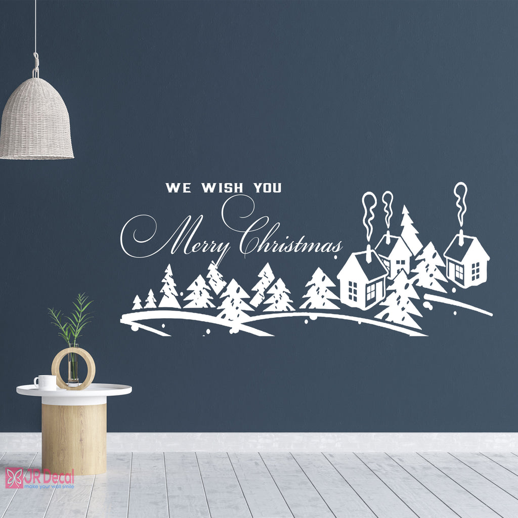 Winter Village Wall Stickers