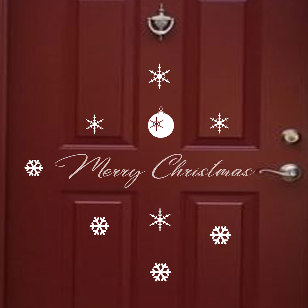 Christmas Door Sign Sticker UK