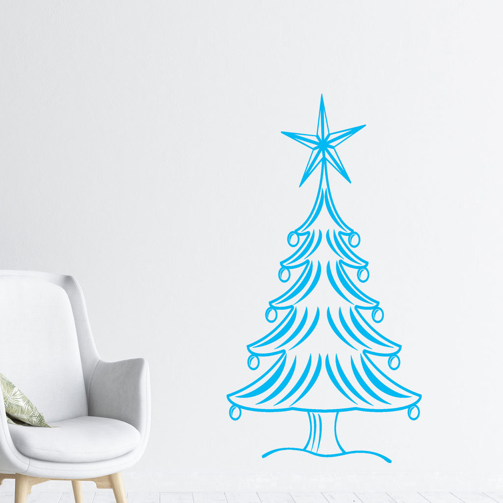 Christmas Tree wall sticker with Snowflake