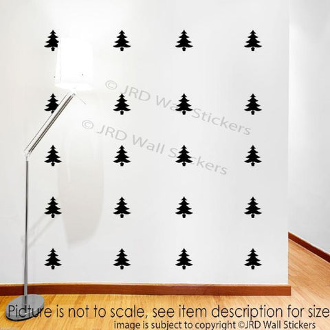 Set of 20 Xmas Tree Removable Wall Decal JRD-SE-07