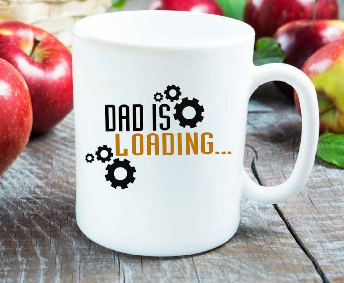 Dad is Loading- Funny Father's day Gifts Mug, Printed Ceramic coffee mug, Christmas gift for dad