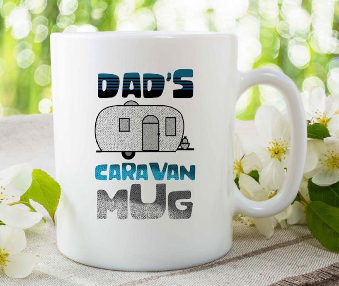 """DAD'S Caravan Mug"" Funny Mug for Dad"