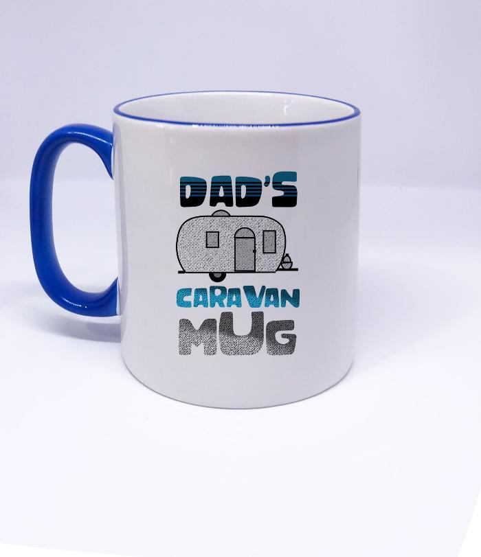 DAD'S Caravan Mug- Christmas gifts for dad, fathers day gifts for step dad, Coffee tea mug