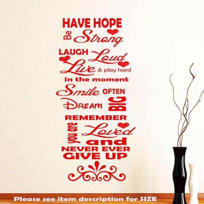 Family Love Quotes Images Family Love Have Hope Inspirational Wall Quotes Jrd3  Jr Decal