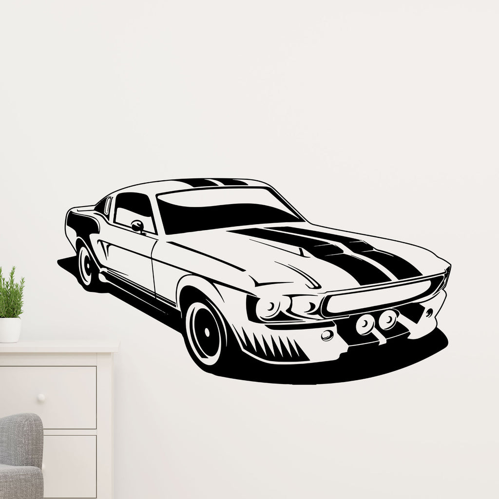 Ford Mustang Car Wall Sticker for Boys Bedroom