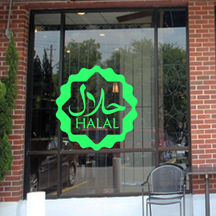 Halal Shop Window Sign Vinyl Sticker