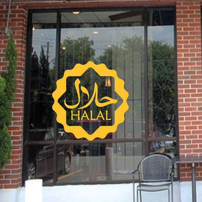 Halal Shop window sticker