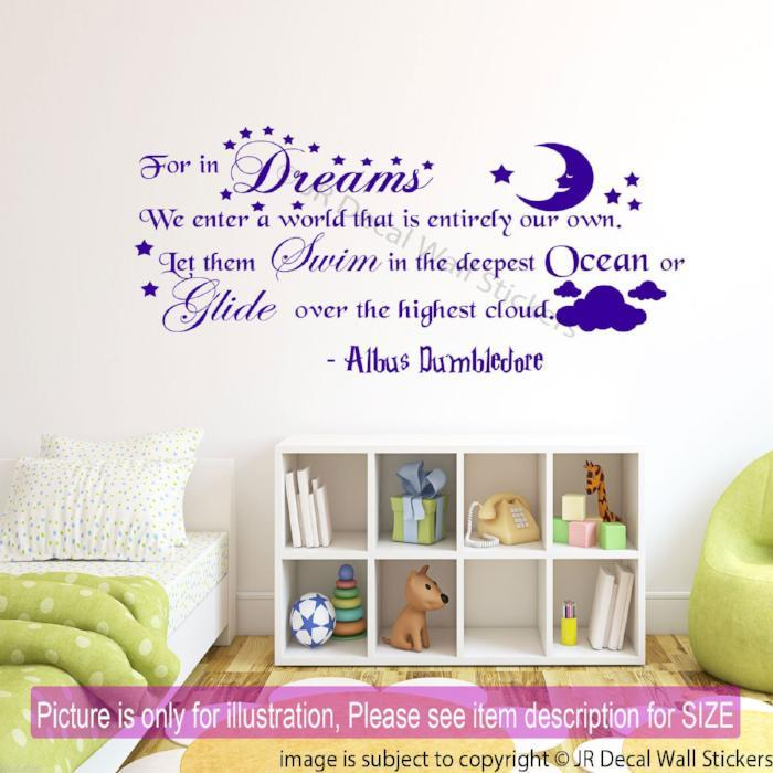 """In Dreams We Enter a World that is Entirely our Own""- Inspirational wall decal"