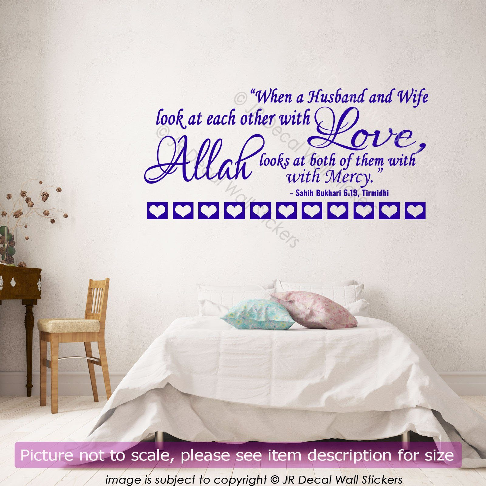 Islamic husband wife love quote wall sticker vinyl wall decal home islamic husband wife quote wall stickers amipublicfo Choice Image