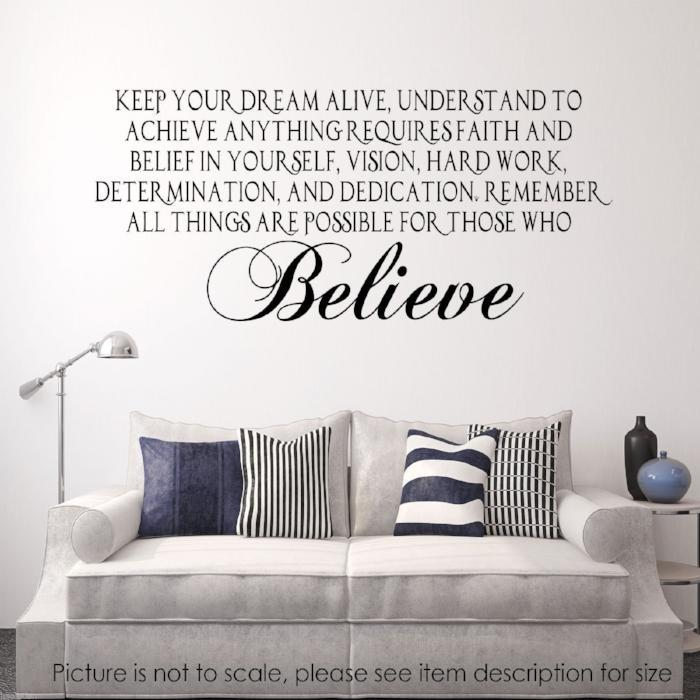 Keep your Dream Alive and Believe Inspirational Quote