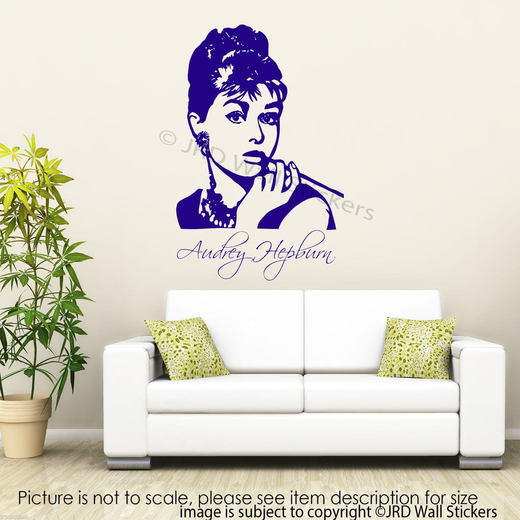 Large Audrey Hepburn wall sticker