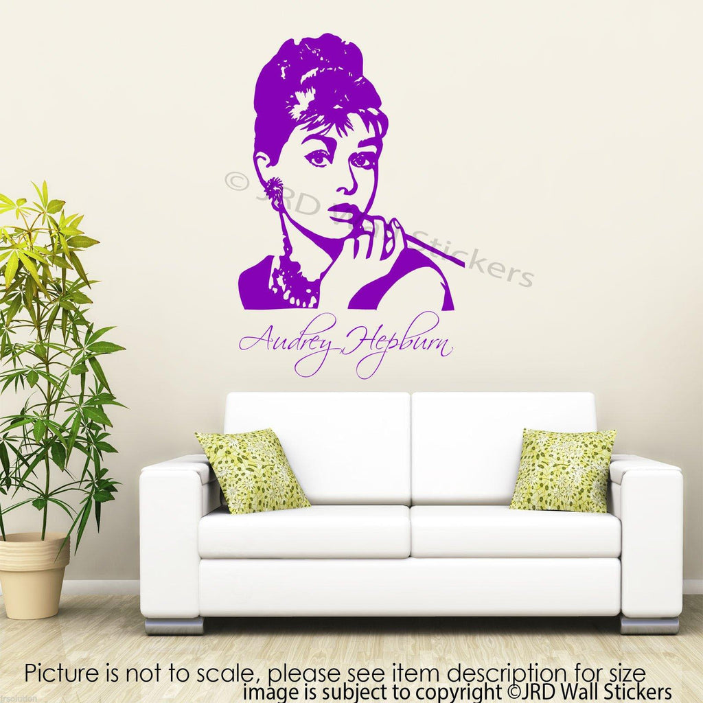 Large AUDREY HEPBURN Wall Art Sticker