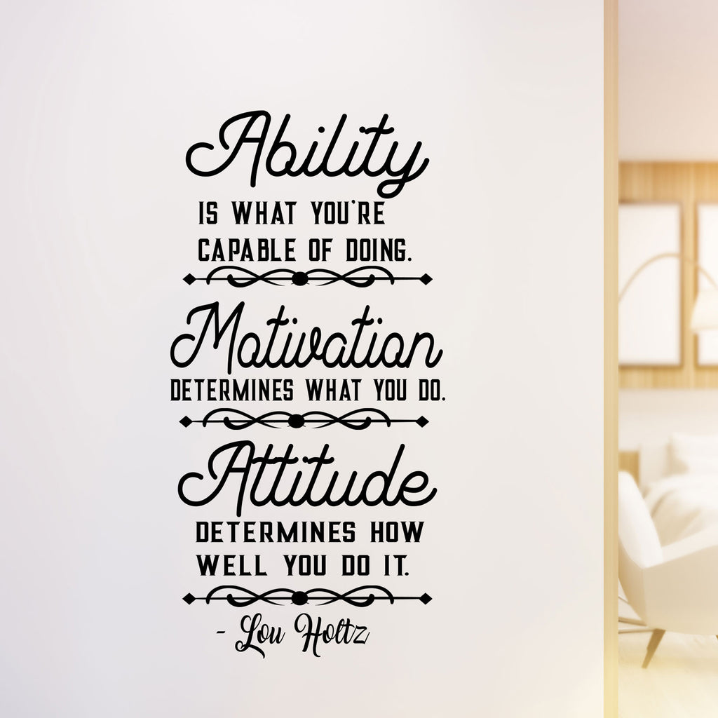 "Lou Holtz's ""Ability"" Motivational Quote Wall Art"