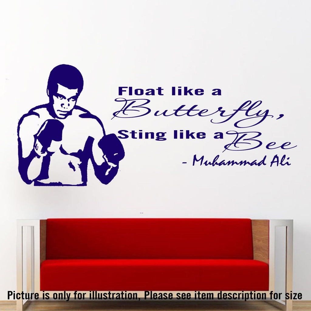 Muhammad Ali Motivational wall sticker