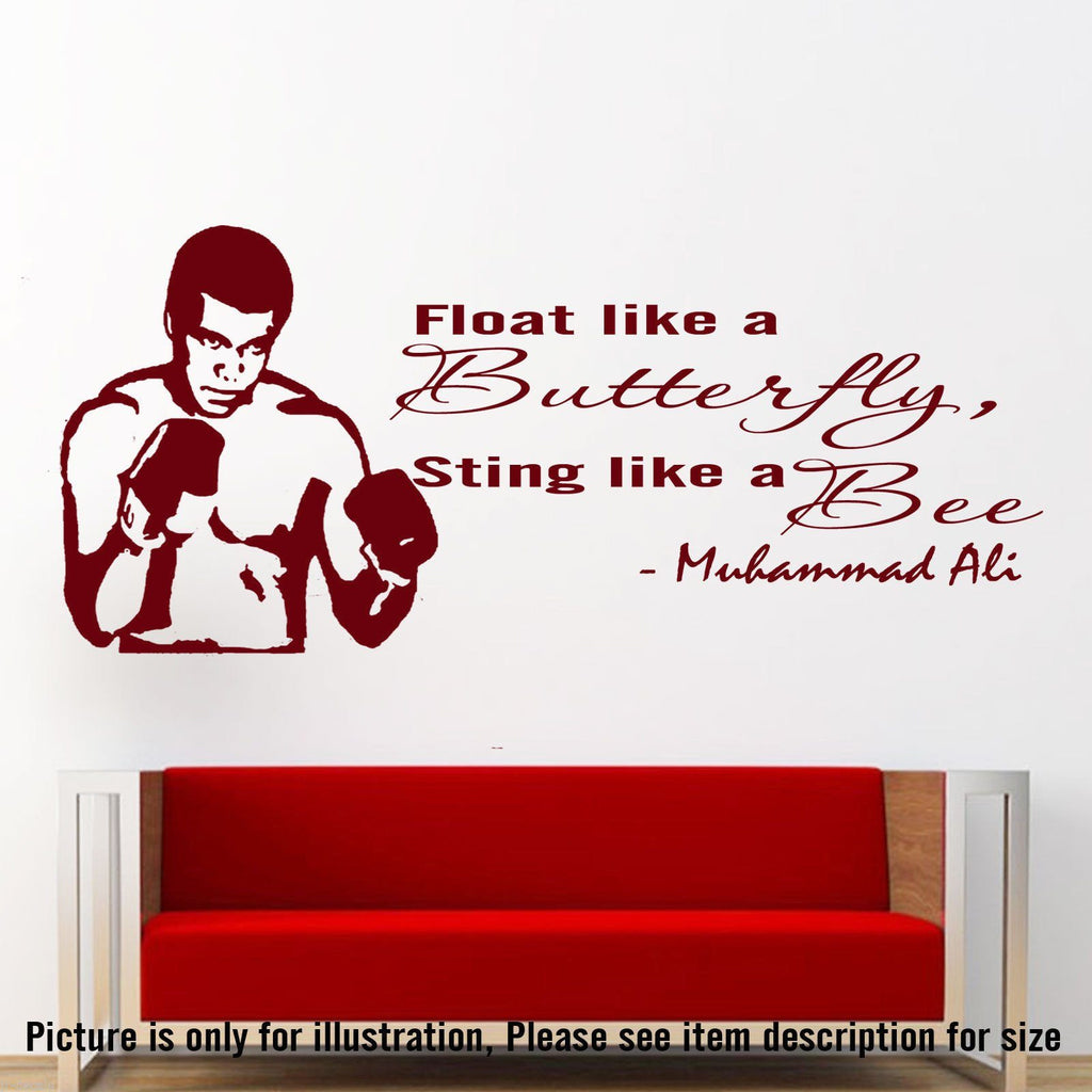 MUHAMMAD ALI Quote WALL ART STICKER JRD-CB-5