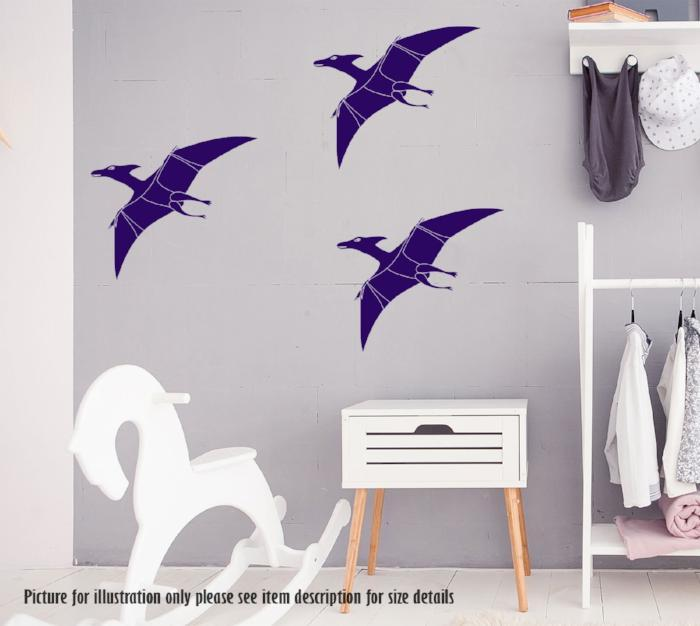Pterodactyl wall decal for Kids Bedroom Wall