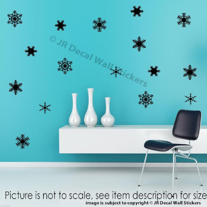 Snowflake wall stickers christmas wall decals disney frozen themed snowflake wall stickers christmas wall decals amipublicfo Choice Image
