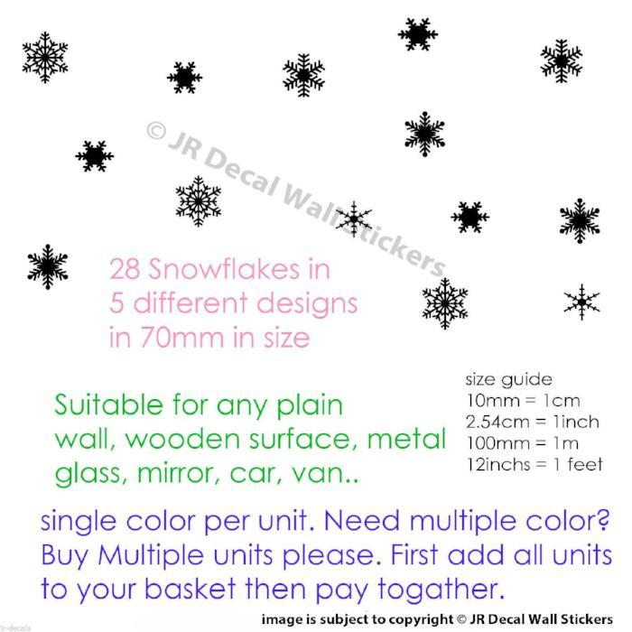 Wall Decals Snowflake Wall Stickers Christmas