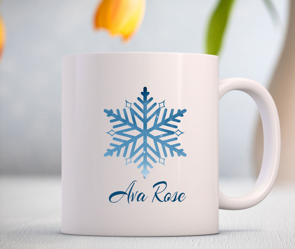 Snowflake Printed Personalized Coffee Mug