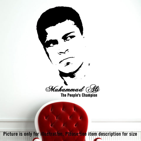 The People's CHAMPION MUHAMMAD ALI Vinyl Wall Decal JRD-CB-16