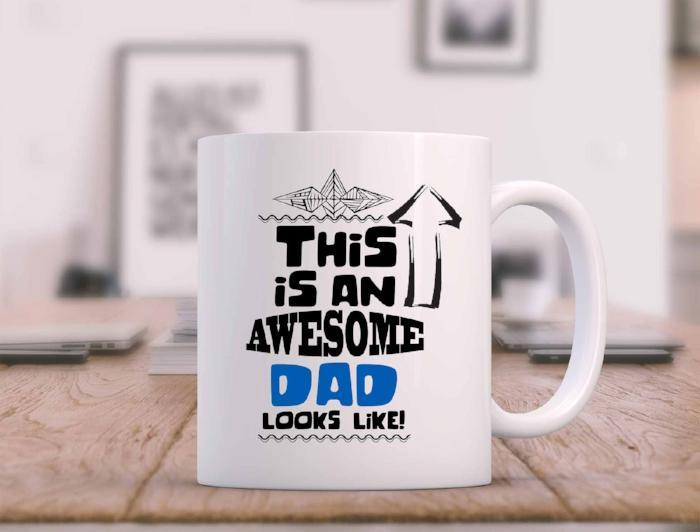 This is an Awesome DAD looks Like- Funny coffee Mug