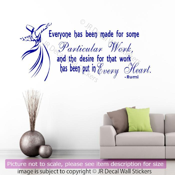 Rumi Inspirational quote Wall Sticker