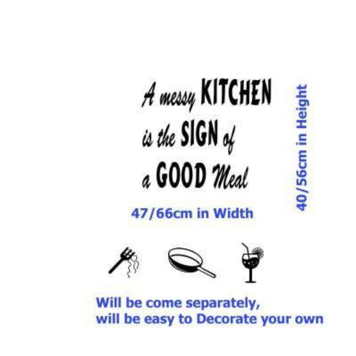 A GOOD MEAL kitchen wall sticker