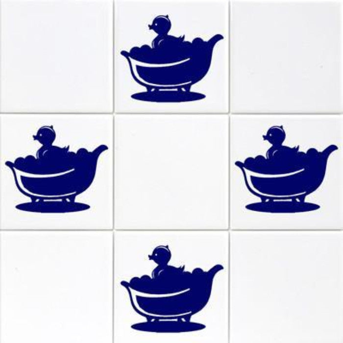 Bath Duck Tile Transfer Vinyl Wall Stickers JRD2