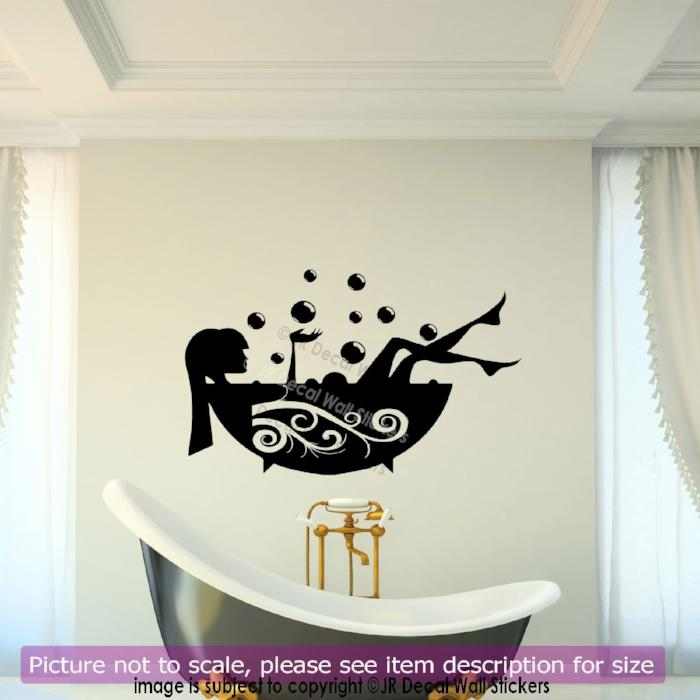 in hk stickers removable sticker black bath bubbles shower wall vinyl my bathroom products art decal time
