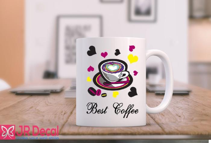 Best Coffee colourful Printed Ceramic Mug D7
