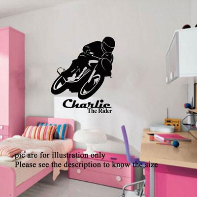... Motorcycle Bike Motorbike Wall Art Sports Wall Decal Racing Wall  Stickers D3