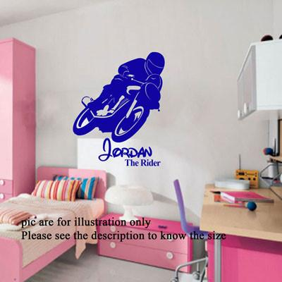 Motorcycle Bike Motorbike Wall Art Sports Wall Decal Racing Wall Stickers D3