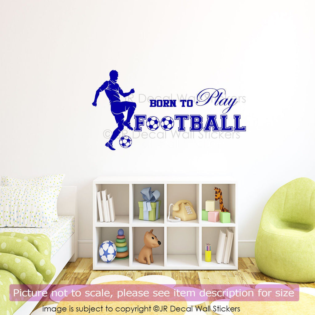 Born to Play Football Decal