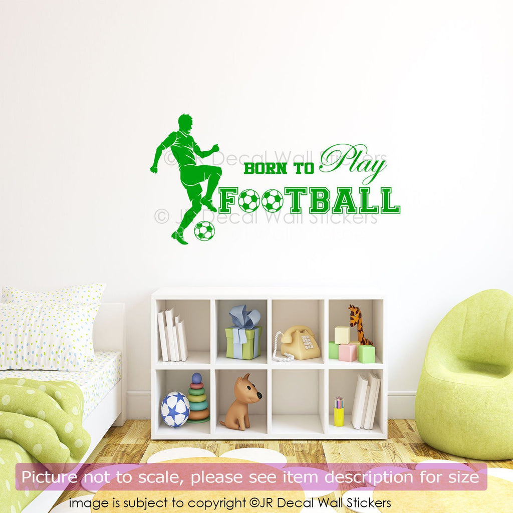 Born to Play Football Wall Art