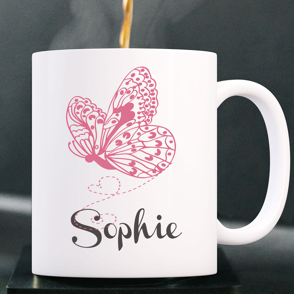 Butterfly Printed Personalized Coffee Mug