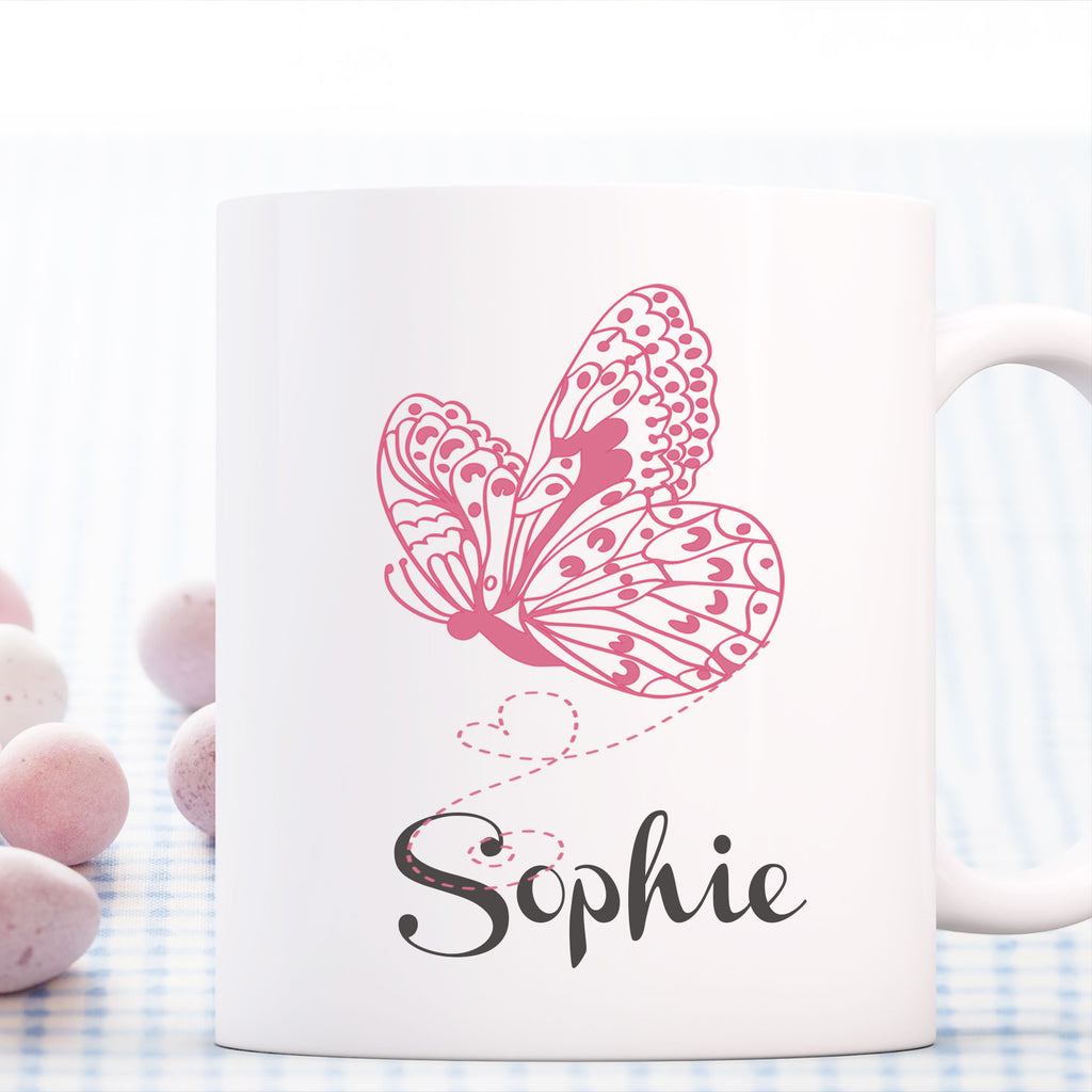 Butterfly Printed Personalised Name Mug