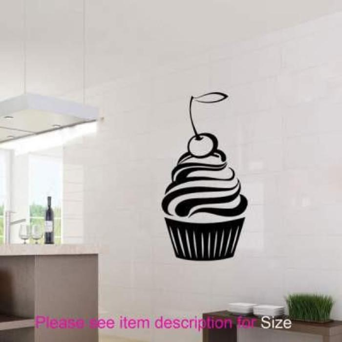 Large Cherry Cupcake wall stickers