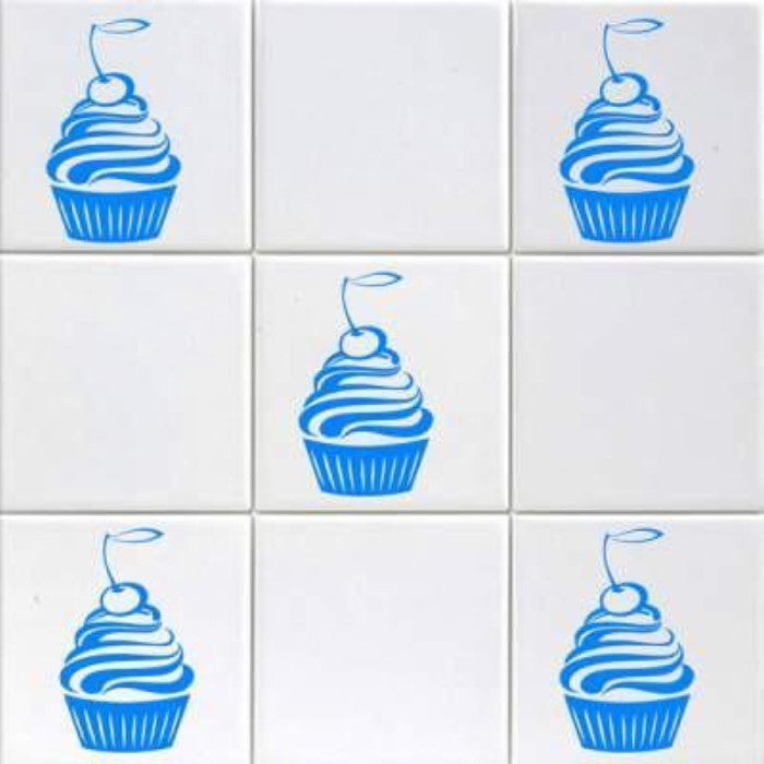 Cherry CUPCAKE Vinyl Wall Art Stickers