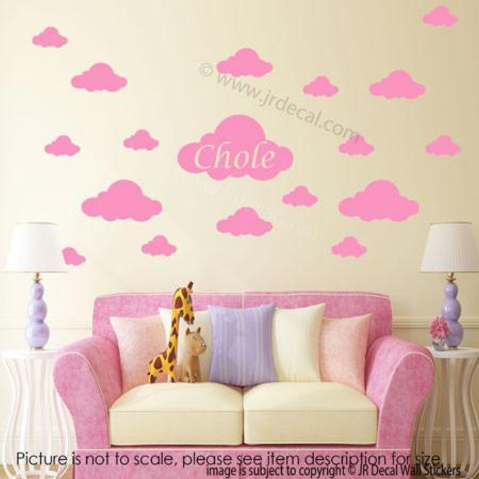 ... Cloud Wall Stickers Your Kidu0027s Personalized Name ... Part 69