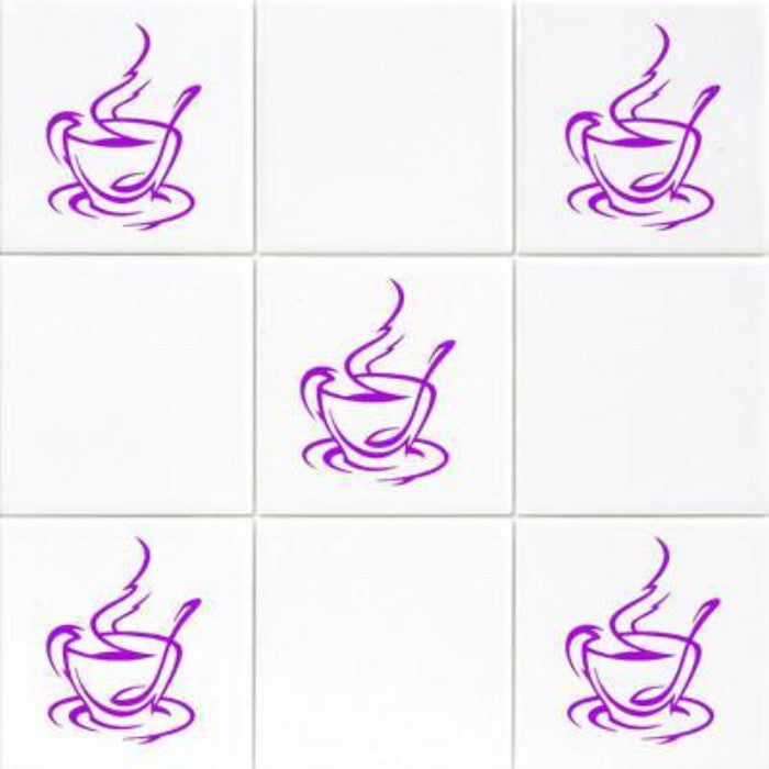 Set of Coffee Cup Kitchen Sticker