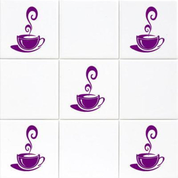 Coffee Cup Kitchen Tiles Wall Art Decals